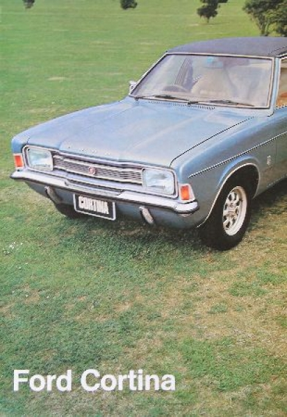 Ford Cortina Modellprogramm 1974 Automobilprospekt