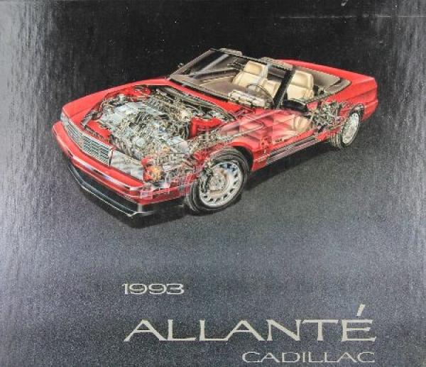 Cadillac Allante Pressemappe 1992 Automobilkatalog