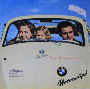 BMW Isetta Motorcoupe Automobilprospekt 1955