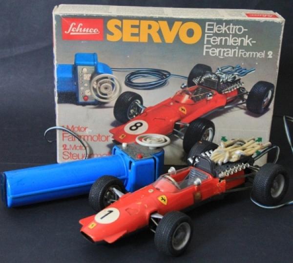 Schuco Electro Fernlenk Ferrari Formel 2 im Originalkarton 1968