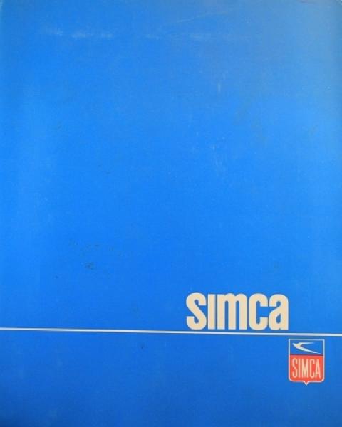 Simca Pressemappe Modellprogramm 1965 Automobilprospekt