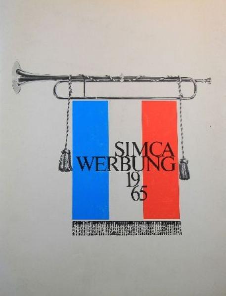 """""""Simca Werbung 65"""" Pressemappe 1965 Automobilprospekt"""