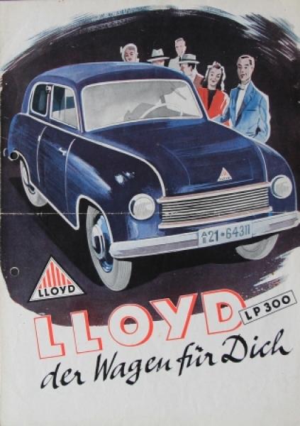 Lloyd LP 300 Automobilprospekt 1950