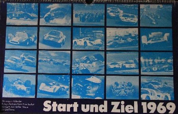 Seufert Motorsport-Kalender 1969 - Start und Ziel -