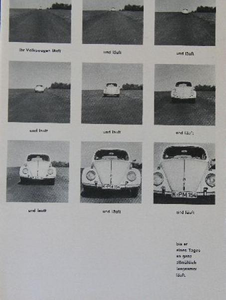 """Volkswagen """"Ihr Volkswagen läuft"""" Automobilprospekt 1964"""