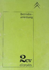 Citroen 2 CV Betriebsanleitung 1965