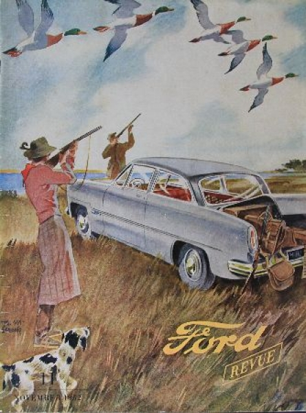 """""""Ford Revue"""" Firmenmagazin 1952"""