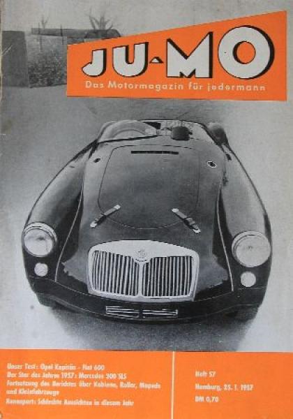 """""""Ju-Mo - Das Motormagazin für Jedermann"""" Zeitschrift 1957"""