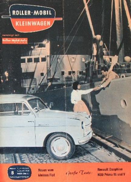 """""""Roller - Mobil Kleinwagen"""" Kleinwagen-Zeitschrift 1958"""