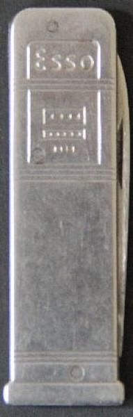 Esso Werbe-Taschenmesser in Form einer Zapfsäule 1955