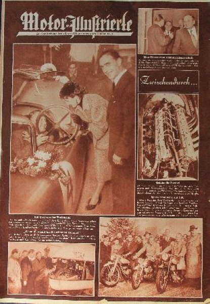 """""""Motor Illustrierte"""" Zeitschrift 1953"""