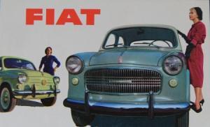 Fiat Modellprogramm 1959 Automobilprospekt