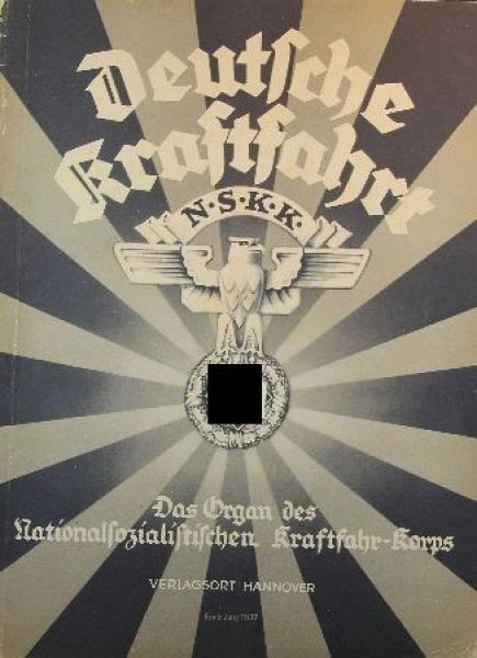 """""""Deutsche Kraftfahrt"""" NSKK-Zeitschrift 1937"""