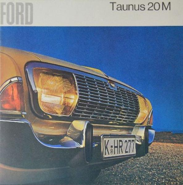 Ford Taunus 20 M 1964 Automobilprospekt