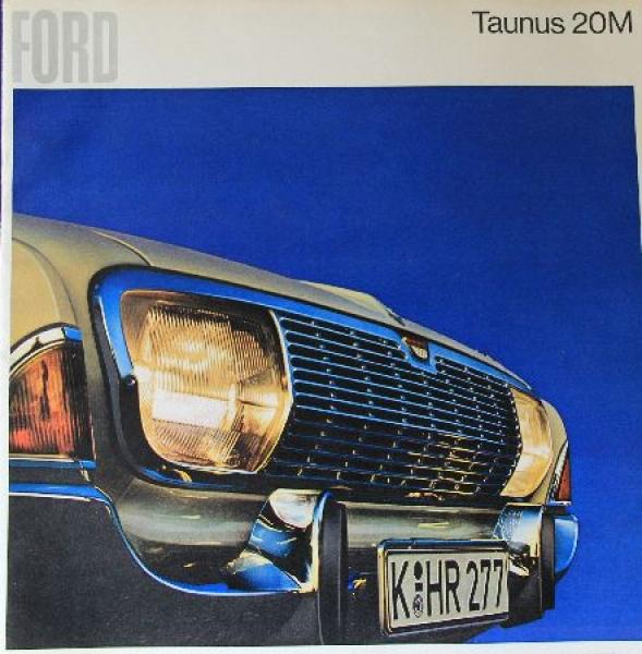 Ford Taunus 20 M 1965 Automobilprospekt