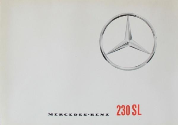 Mercedes Benz 230 SL Modellprogramm 1963 Automobilprospekt