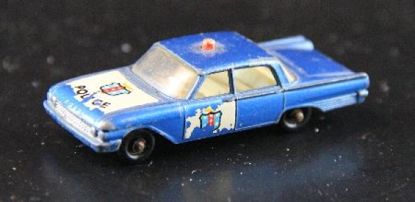Matchbox Lesney Ford Fairlaine Policecar 1962 Metallmodell