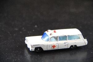 Matchbox Lesney Cadillac S&S Ambulance 1963 Metallmodell