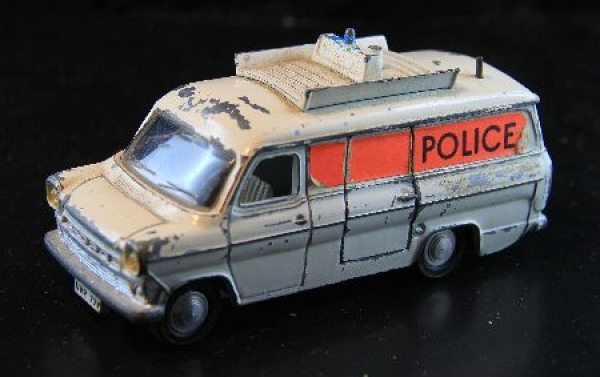 Dinky England Ford Transit Police Unit Metallmodell 1970