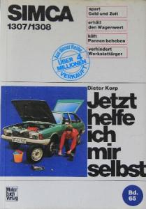 "Korp ""Simca 1307 - Jetzt helfe ich mir selbst"" Reparaturhandbuch 1975"