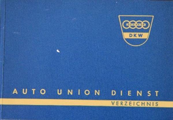 """DKW """"Auto Union Dienst Verzeichnis"""" 1959"""