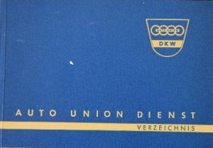 """DKW """"Auto Union Dienst Verzeichnis"""" Händlerverzeichnis 1959"""