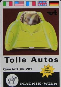 "Piatnik ""Tolle Autos"" Kartenspiel 1968"
