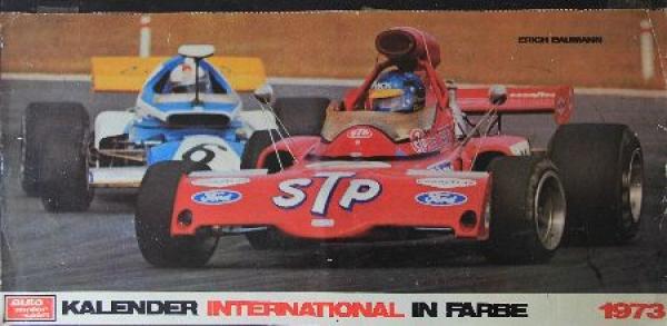 """""""Auto, Motor & Sport Kalender in Farbe International"""" Motorsport-Kalender 1973"""