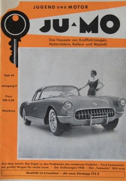"""""""Ju-Mo - Das Motormagazin für Jedermann"""" Zeitschrift 1956"""