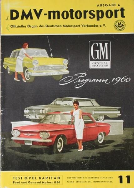 """DMV-Motorsport Ausgabe A"" Motorsportmagazin 1959"