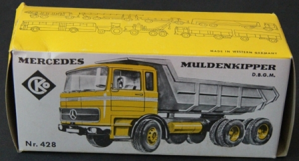 Kellermann Mercedes Benz Muldenkipper 1970 Originalkarton