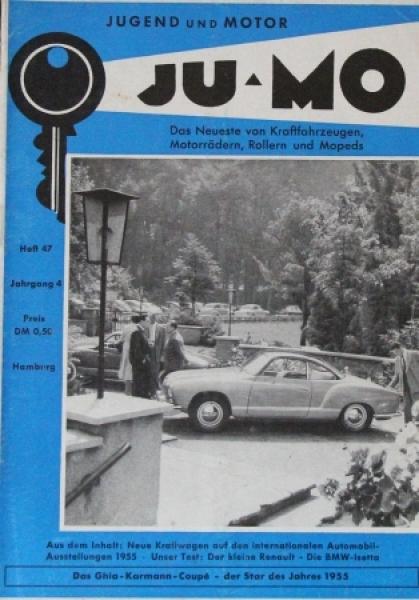 """""""Ju-Mo - Das Motormagazin für Jedermann"""" Zeitschrift 1955"""