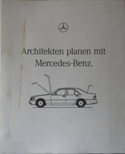 """Mercedes-Benz """"Architekten planen mit Mercedes"""" Mercedes-Planungsbuch 1990"""