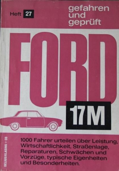 """Hansen """"Ford 17M gefahren und geprüft"""" Handbuch 1962"""