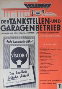 """""""Der Tankstellen- und Garagenbetrieb"""" Tankstellen-Fachmagazin 1951"""