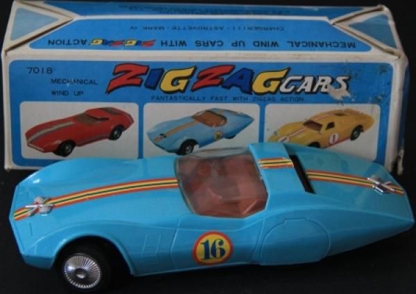 Bandai Astro-Corvette Zig-Zag-Car 1962 in Originalbox 0
