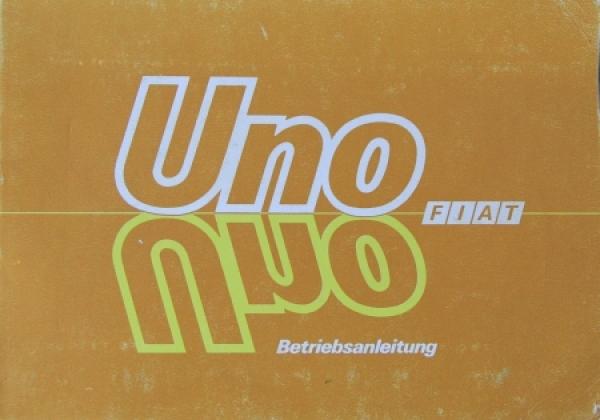 Fiat Uno Betriebsanleitung 1986