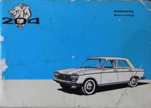 Peugeot 204 Betriebsanleitung 1974