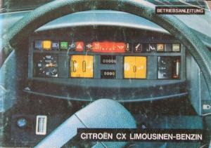Citroen CX Limousine Betriebsanleitung 1976