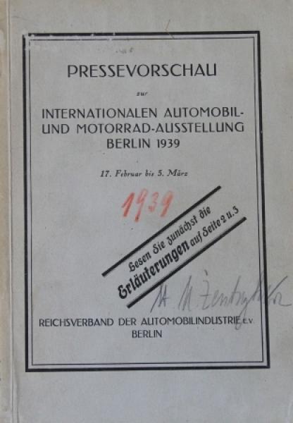 """""""Internationale Automobil und Motorradausstellung"""" Austellungskatalog 1937"""