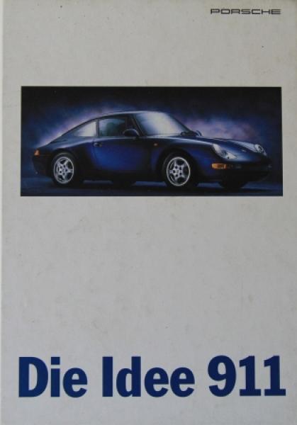 """Porsche """"Die Idee 911"""" Automobilprospekt 1995"""