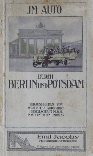 """Wallroth """"Im Auto durch Berlin"""" Autofahren in Berlin 1912"""