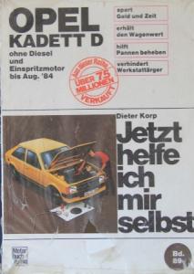 """Korp """"Opel Kadett D - Jetzt helfe ich mir selbst"""" Reparaturhandbuch 1984"""
