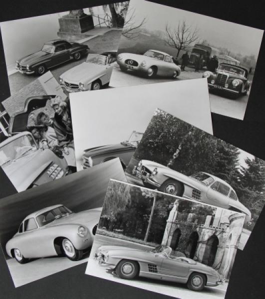Mercedes Benz 230-300 SL sieben Werksphotos 1958