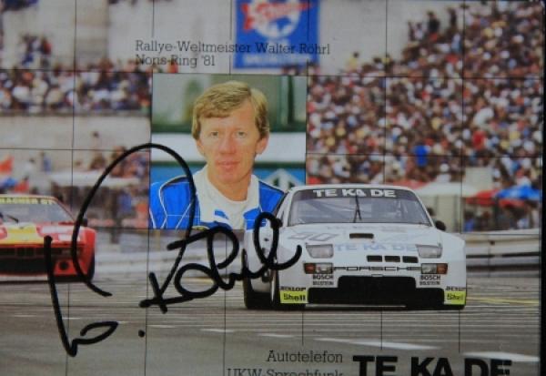 Walter Röhrl Rallyefahrer Originalautogramm 1981