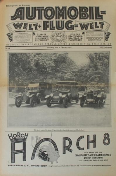 """""""Automobil- und Flugwelt"""" Illustrierte Zeitschrift 1927"""