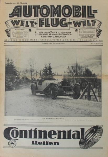"""""""Automobil- und Flugwelt"""" Illustrierte Zeitschrift 1928"""