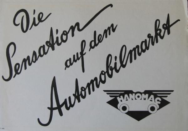 Hanomag Innensteuer-Limusine 1926 Automobilprospekt
