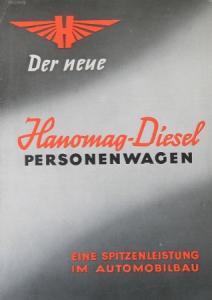 Hanomag Diesel Personenwagen 1938 Automobilprospekt