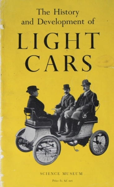 """Caunter """"The history and development of light cars"""" 1957"""